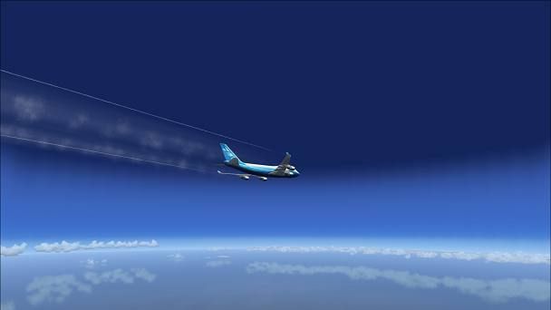 FSX+IF Screenshot: Simulated Complex Winds