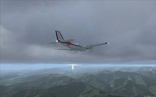 FSX+IF Screenshot: Thunderstorm