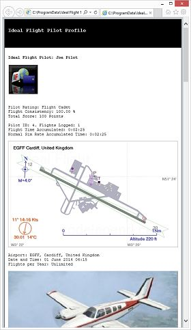 Ideal Flight Graphic: Profile HTML Document