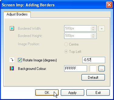 Add Border Form Rotate Feature