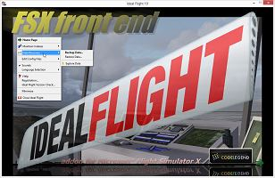 Ideal Flight Graphic: Startup Screen