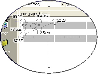 Lens View with the Protractor in Use